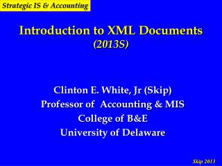 Introduction to XML Documents (2013S)