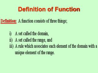 Definition of Function