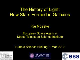The History of Light:  How Stars Formed in Galaxies