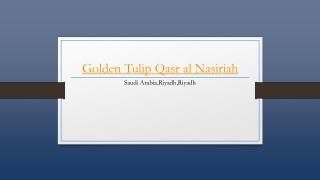 Golden Tulip Qasr Al Nasiriah Hotel - Holdinn