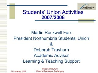 Students' Union Activities  2007/2008