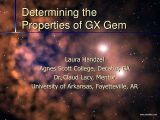 Determining the Properties of GX Gem