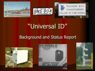 """Universal ID"""