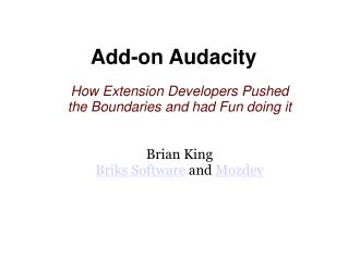 Add-on Audacity