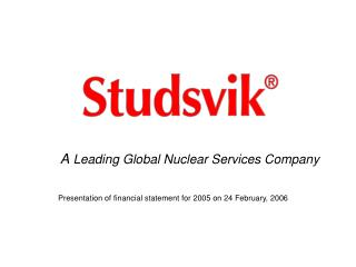 A Leading Global Nuclear Services Company