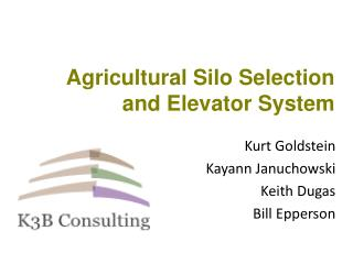 Agricultural Silo Selection and Elevator System