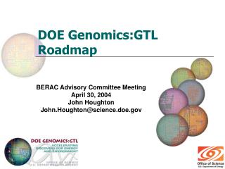 DOE Genomics:GTL Roadmap