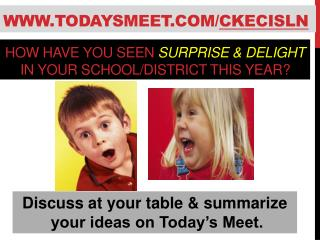 How have you seen  Surprise & Delight in your  school/district this year?