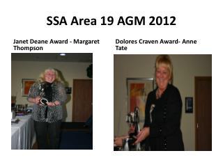SSA Area 19 AGM 2012
