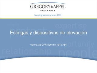 Norma 29 CFR Sección 1910.184