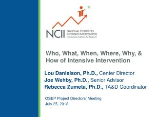 Who, What, When, Where, Why, & How of Intensive Intervention