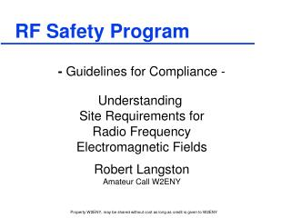 RF Safety Program