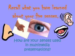 Recall what you have learned about your five senses.