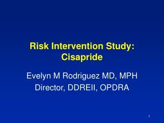 Risk Intervention Study: Cisapride