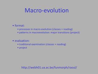 Macro-evolution