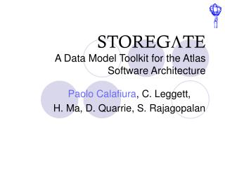 STOREG L TE  A Data Model Toolkit for the Atlas Software Architecture