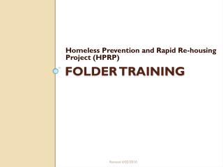 Folder TRAINING