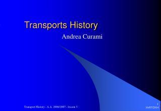 Transports History