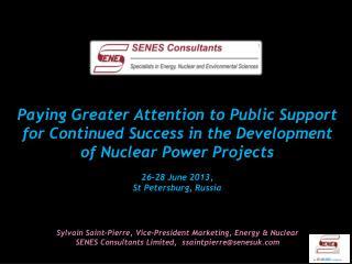 Sylvain  Saint-Pierre, Vice-President Marketing, Energy & Nuclear