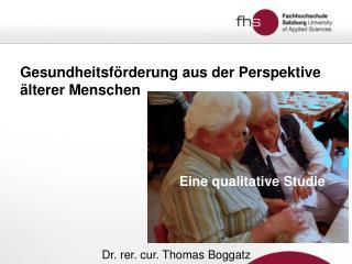 Gesundheitsförderung aus der Perspektive älterer Menschen