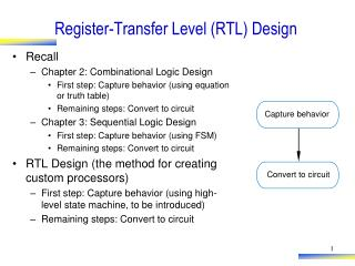 Register-Transfer Level (RTL) Design