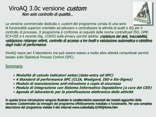ViroAQ 3.0c versione  custom Non solo controllo di qualità…