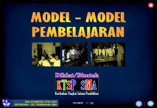 MODEL - MODEL PEMBELAJARAN