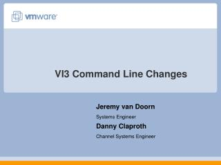 VI3 Command Line Changes