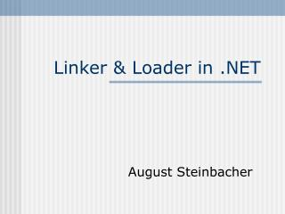 Linker & Loader in .NET
