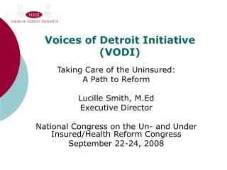 Voices of Detroit Initiative (VODI)