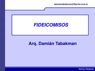 FIDEICOMISOS