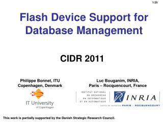 Flash Device Support for Database Management