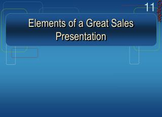 Elements of a Great Sales Presentation