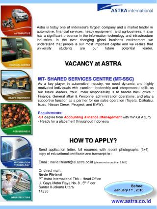 MT- SHARED SERVICES CENTRE (MT-SSC)