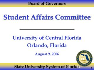 Student Affairs Committee