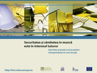 Locuri de muncă mai sigure, mai sănătoase şi mai productive Sibiu – 19 iunie 2007