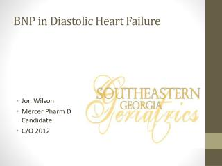 BNP in Diastolic Heart Failure