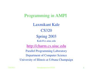 Programming in AMPI