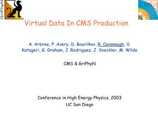 Virtual Data In CMS Production