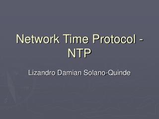 Network Time Protocol - NTP