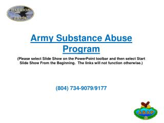 Army Substance Abuse Program
