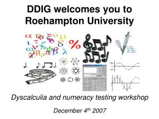 DDIG welcomes you to Roehampton University