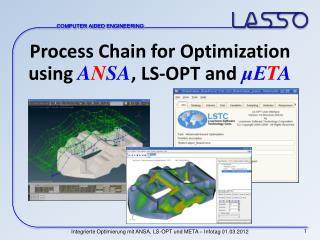 Process Chain for Optimization using  A N SA , LS-OPT and  μE T A