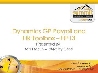 Dynamics GP Payroll and HR Toolbox – HP13