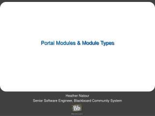 Portal Modules & Module Types