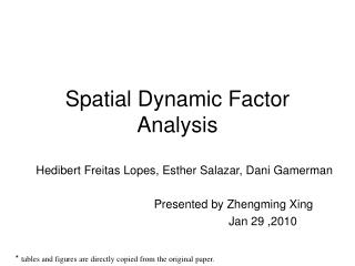 Spatial Dynamic Factor Analysis