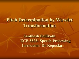 Pitch Determination