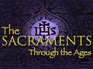 The word sacrament sacramentum,  signifies something sacred