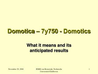 Domotica – 7y750 - Domotics