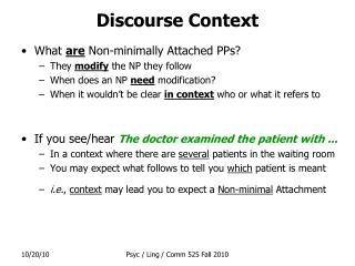 Discourse Context
